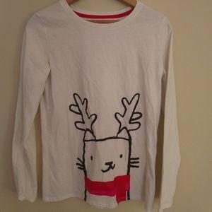New Cat & Jack Christmas Cat XL girls shirt